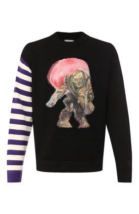 Мужской хлопковый свитер ACNE STUDIOS черного цвета, арт. B60127/M | Фото 1
