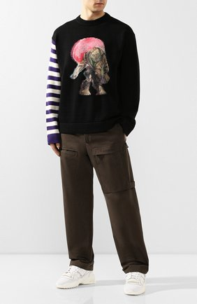 Мужской хлопковый свитер ACNE STUDIOS черного цвета, арт. B60127/M | Фото 2