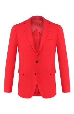 Мужской льняной пиджак RALPH LAUREN красного цвета, арт. 798800235 | Фото 1