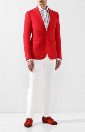 Мужской льняной пиджак RALPH LAUREN красного цвета, арт. 798800235 | Фото 2
