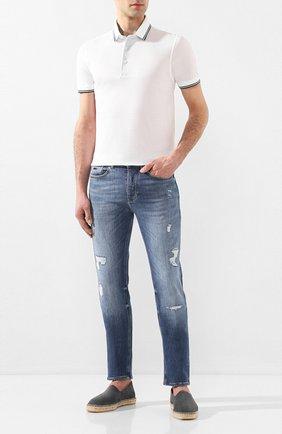 Мужское хлопковое поло GRAN SASSO белого цвета, арт. 60144/72720 | Фото 2