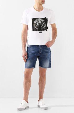 Мужские джинсовые шорты DON THE FULLER синего цвета, арт. DHS0/T0KY0SH/DTF/DA | Фото 2