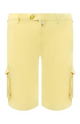 Мужские шорты из смеси льна и хлопка KITON желтого цвета, арт. UFPPBJ07S41 | Фото 1