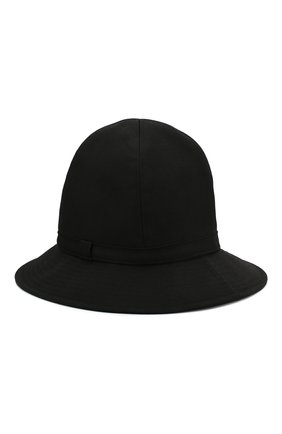 Мужская шерстяная шляпа YOHJI YAMAMOTO черного цвета, арт. HN-H09-100   Фото 2