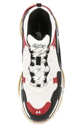 Мужские комбинированные кроссовки triple s BALENCIAGA разноцветного цвета, арт. 536737/W090M | Фото 5 (Материал внешний: Текстиль; Материал внутренний: Текстиль; Подошва: Массивная)