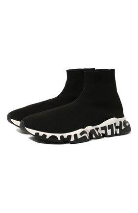 Мужские текстильные кроссовки speed BALENCIAGA черного цвета, арт. 605972/W05GE | Фото 1