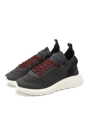 Мужские текстильные кроссовки DSQUARED2 серого цвета, арт. SNM0074 59202581 | Фото 1