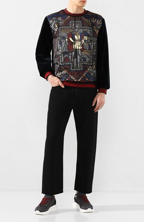 Мужские текстильные кроссовки DSQUARED2 серого цвета, арт. SNM0074 59202581 | Фото 2