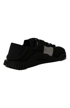 Мужские комбинированные кеды ns1 DOLCE & GABBANA черного цвета, арт. CS1769/AJ968 | Фото 5 (Материал внешний: Текстиль; Материал внутренний: Натуральная кожа, Текстиль; Подошва: Плоская)