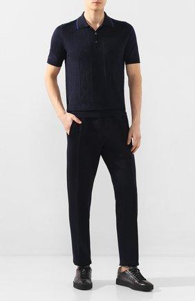 Мужские кожаные кеды SANTONI серого цвета, арт. MBGL20850NE0MG0TG62 | Фото 2