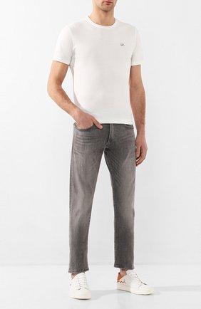 Мужские кожаные кеды SANTONI белого цвета, арт. MBCN21306BARXBMII43 | Фото 2