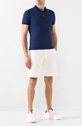 Мужские кожаные кеды SANTONI белого цвета, арт. MBWI21303BARXDSPI39 | Фото 2