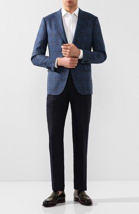 Мужские кожаные лоферы SANTONI бордового цвета, арт. MCCG16463MC3HNGCN70   Фото 2