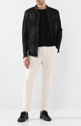 Мужские кожаные кеды HIDE&JACK черного цвета, арт. IBKLBLKBLK | Фото 2