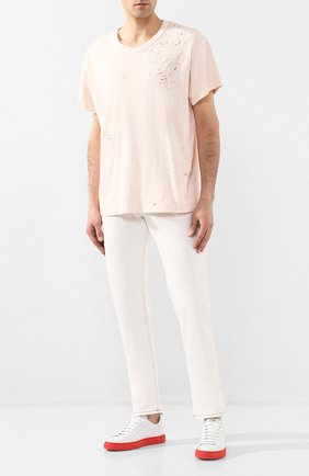 Мужские кожаные кеды HIDE&JACK белого цвета, арт. T0SLWHTRED | Фото 2