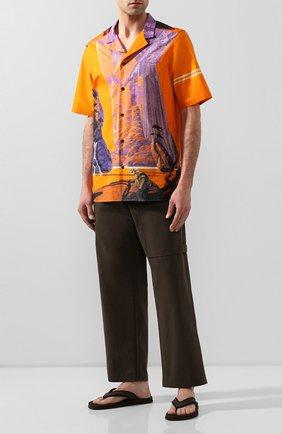 Мужские текстильные шлепанцы valentino garavani VALENTINO хаки цвета, арт. TY2S0D10/XZJ   Фото 2
