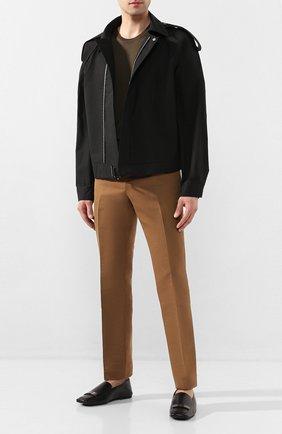 Мужские кожаные слиперы SERGIO ROSSI черного цвета, арт. A84820-MNAN07 | Фото 2