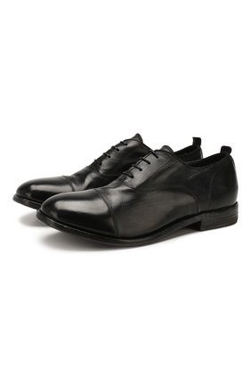Мужские кожаные оксфорды MOMA черного цвета, арт. 2AS029-CA   Фото 1