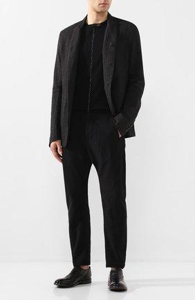 Мужские кожаные оксфорды MOMA черного цвета, арт. 2AS029-CA   Фото 2