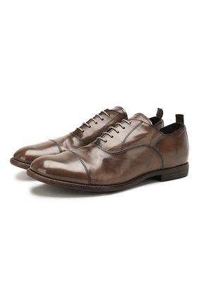 Мужские кожаные оксфорды MOMA коричневого цвета, арт. 2AS035-MU | Фото 1
