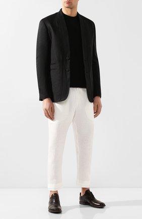 Мужские кожаные оксфорды MOMA темно-коричневого цвета, арт. 2AS035-MU | Фото 2