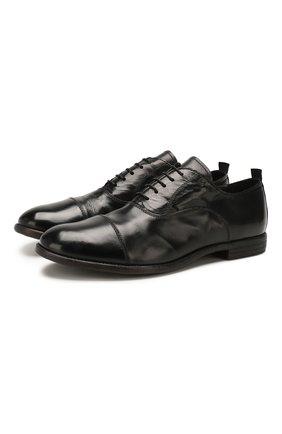 Мужские кожаные оксфорды MOMA черного цвета, арт. 2AS035-MU   Фото 1
