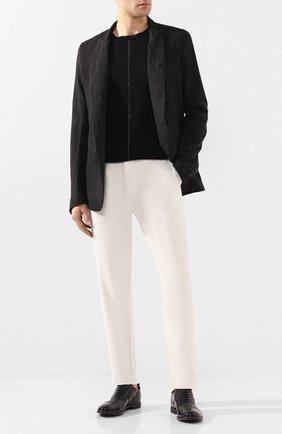 Мужские кожаные оксфорды MOMA черного цвета, арт. 2AS035-MU   Фото 2