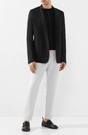 Мужские кожаные пенни-лоферы MOMA черного цвета, арт. 2ES044-FL0T0X   Фото 2