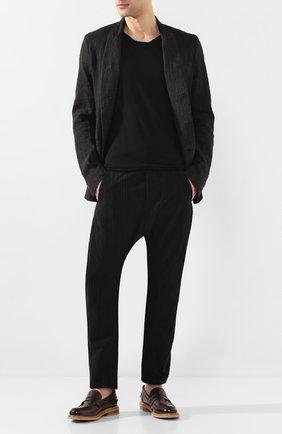 Мужские кожаные пенни-лоферы MOMA коричневого цвета, арт. 2ES049-MU | Фото 2