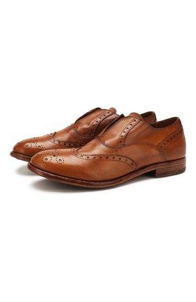 Мужские кожаные оксфорды MOMA коричневого цвета, арт. 2FS063-CA | Фото 1