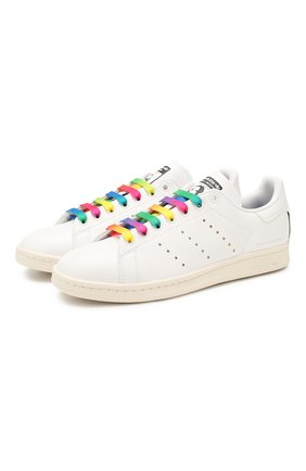 Мужские кеды stella mccartney x adidas stan smith STELLA MCCARTNEY белого цвета, арт. 800080/N0051 | Фото 1