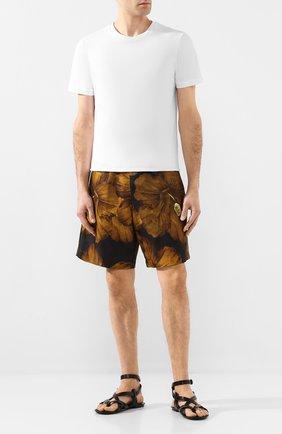 Мужские кожаные сандалии SAINT LAURENT черного цвета, арт. 601774/DWE00 | Фото 2