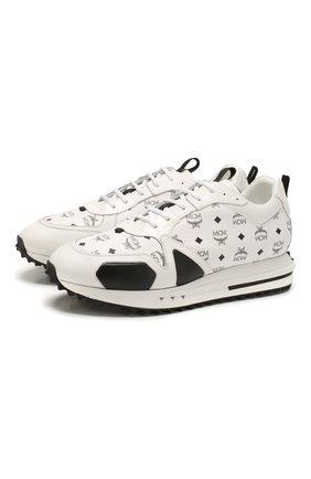Мужские комбинированные кроссовки MCM белого цвета, арт. MEX ASMM35   Фото 1