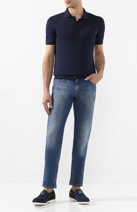 Мужской комбинированные дерби DOUCAL'S темно-синего цвета, арт. DU2646P0TEPY407IB00 | Фото 2