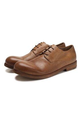 Мужской кожаные дерби MARSELL светло-коричневого цвета, арт. MM2443/PELLE V0L0NATA | Фото 1