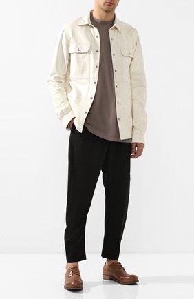 Мужской кожаные дерби MARSELL светло-коричневого цвета, арт. MM2443/PELLE V0L0NATA | Фото 2