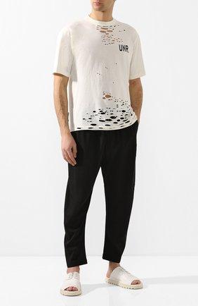 Мужские кожаные шлепанцы MARSELL белого цвета, арт. MMG490/PELLE V0L0NATA | Фото 2