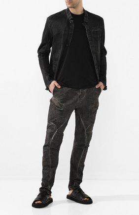 Мужские кожаные шлепанцы MARSELL черного цвета, арт. MMG490/PELLE V0L0NATA | Фото 2