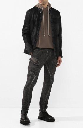 Мужские кожаные ботинки MARSELL черного цвета, арт. MMG500/BIMATERIALE PELLE R0V + VIT | Фото 2