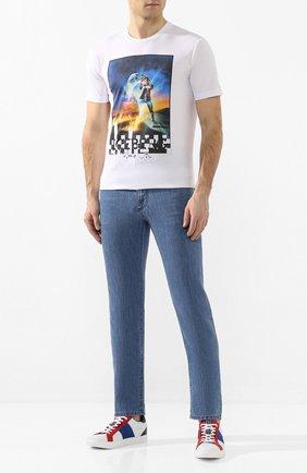 Мужские кожаные кеды BOGNER разноцветного цвета, арт. 101-3991/NIZZA 23B | Фото 2