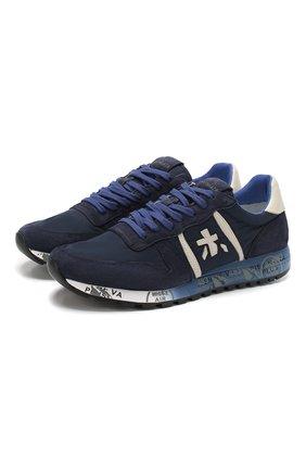 Мужские комбинированные кроссовки eric PREMIATA темно-синего цвета, арт. ERIC/VAR3289 | Фото 1
