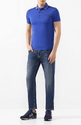 Мужские комбинированные кроссовки eric PREMIATA темно-синего цвета, арт. ERIC/VAR3289 | Фото 2