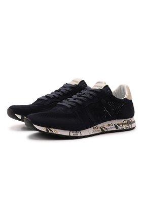 Мужские замшевые кроссовки eric PREMIATA темно-синего цвета, арт. ERIC/VAR3836 | Фото 1