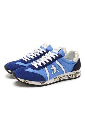 Мужские комбинированные кроссовки lucy PREMIATA синего цвета, арт. LUCY/VAR4601 | Фото 1
