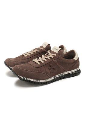 Мужские замшевые кроссовки sean PREMIATA коричневого цвета, арт. SEAN/VAR2931 | Фото 1