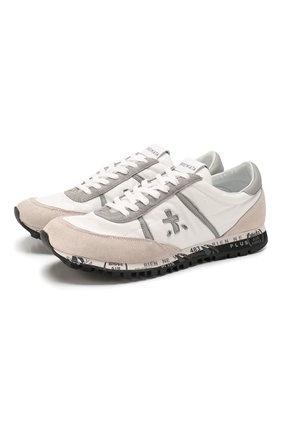 Мужские комбинированные кроссовки sean PREMIATA белого цвета, арт. SEAN/VAR4655 | Фото 1