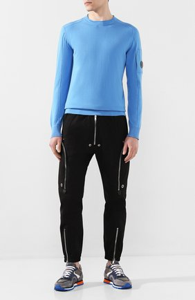 Мужские комбинированные кроссовки BARRETT серого цвета, арт. CRAIG-08.2/VEIL | Фото 2 (Материал внутренний: Натуральная кожа; Подошва: Массивная)