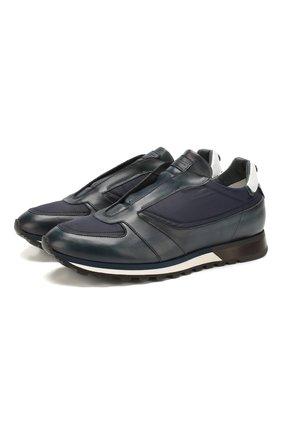 Мужские комбинированные кроссовки BARRETT темно-синего цвета, арт. CRAIG-10.2/NAX0S | Фото 1