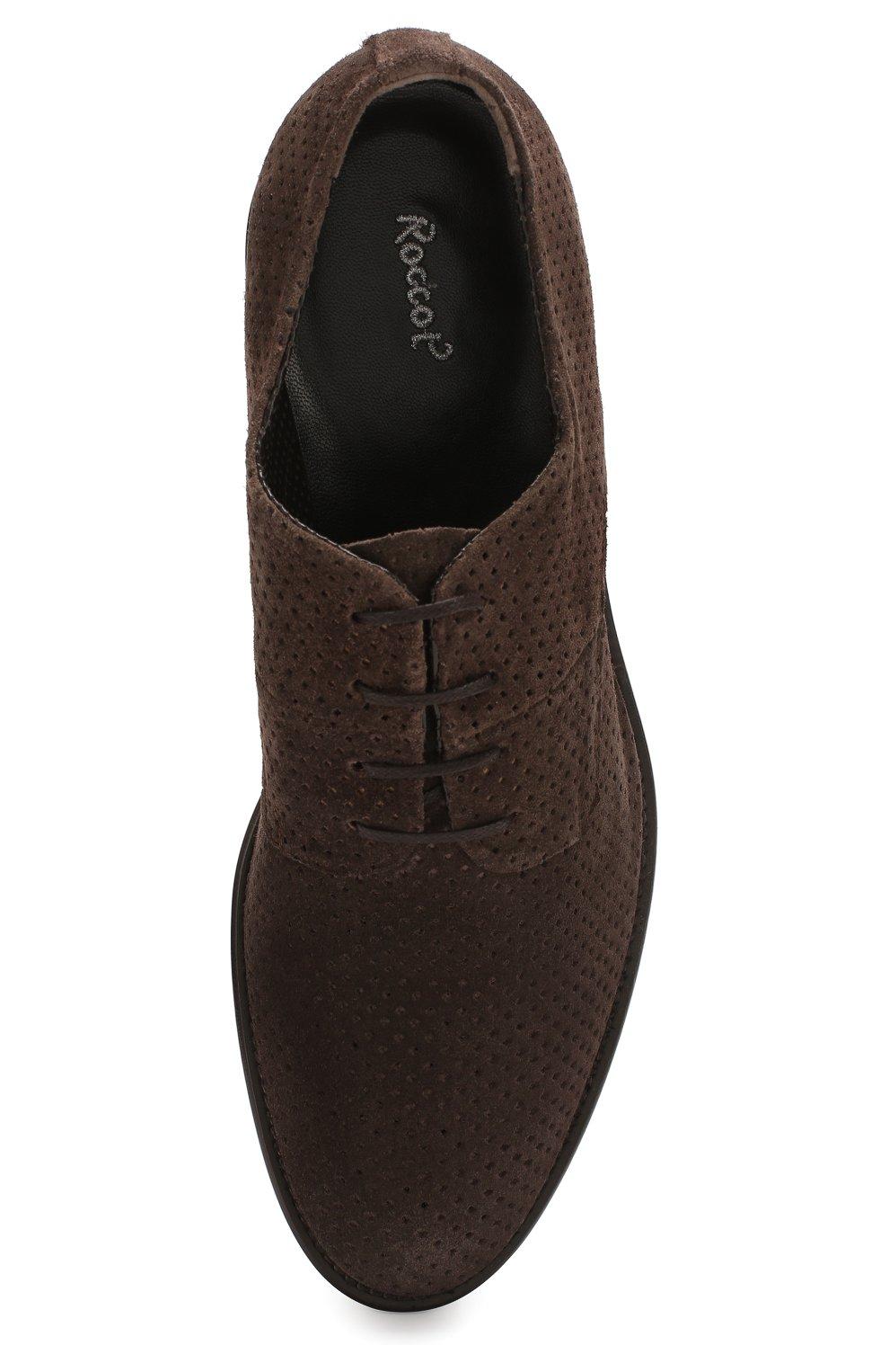 Мужские замшевые дерби ROCCO P. темно-коричневого цвета, арт. 10013/0LE0 | Фото 5