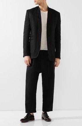 Мужской кожаные дерби ROCCO P. черного цвета, арт. 10013/TRIP0N | Фото 2
